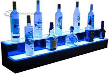 48quot 2 tier back bar liquor display shelves home bar lighting back bar lighting