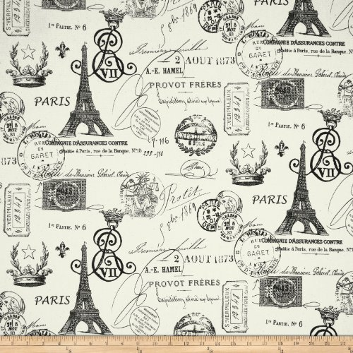 Premier Prints French Stamp Twill Grey Fabric By The ()