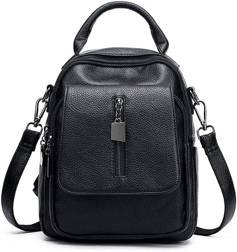 Backpacks,PU Leather Women Handbag Waterproof Travel College School Bag Daypack Fashion Shoulder Bag