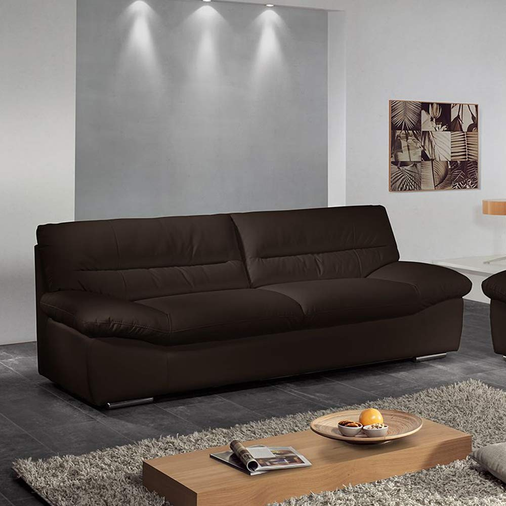 Furny Casario Three Seater Sofa (Brown)