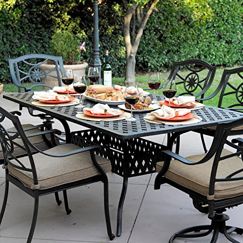 Darlee Ten Star 7 Piece Cast Aluminum Patio Dining Set (Darlee Cast Ten Star)