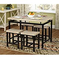 Simple Living Delano Two-tone 5-piece Wood Dining Set by Simple Living