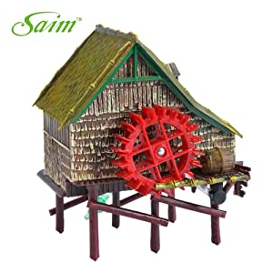 Saim Windmill Live Action Aquarium Ornaments