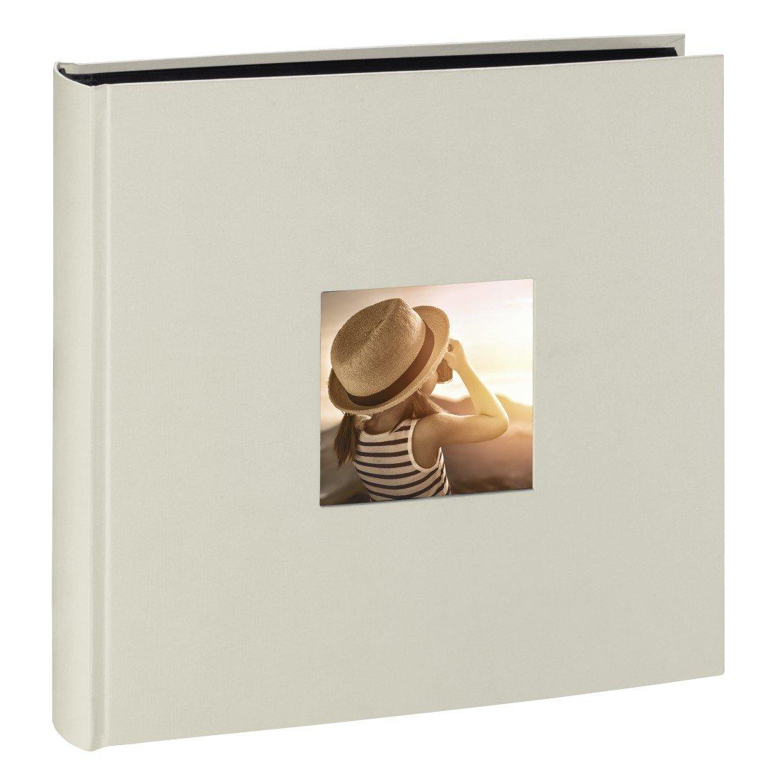 Álbum de fotos de Bellas Artes (30 x 30 cm, 100 páginas negras, 50 hojas, con recorte para insertar una imagen), tiza Hama 00002344