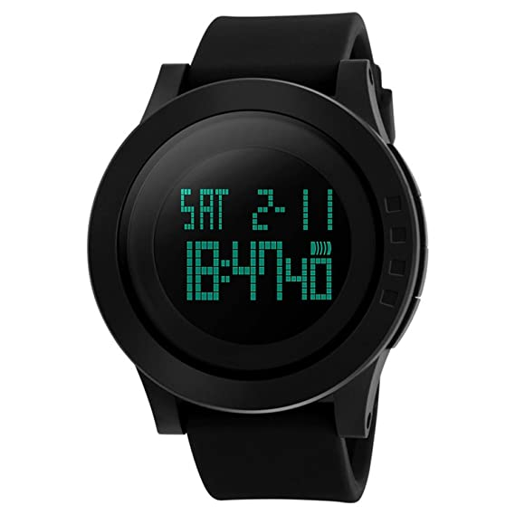 Reloj digital para hombres - reloj deportivo vazeedo con luz de fondo de la pantalla de