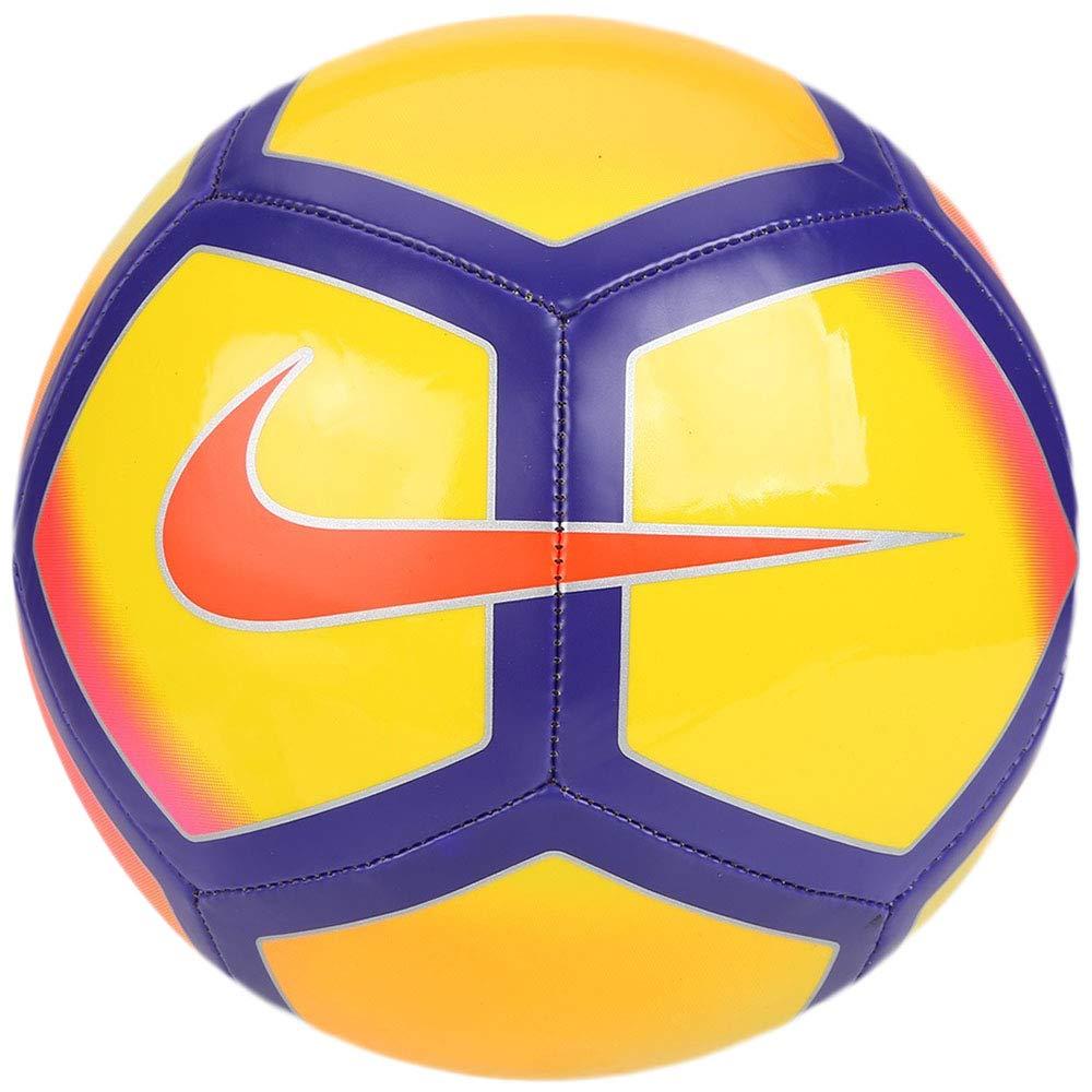 Nike Pitch - Balón de fútbol, Amarillo/púrpura: Amazon.es ...