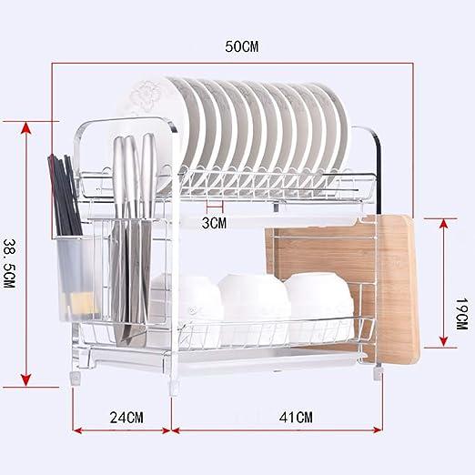 Shelf LYG Estante de Cocina Cocina Acero Inoxidable Plato ...