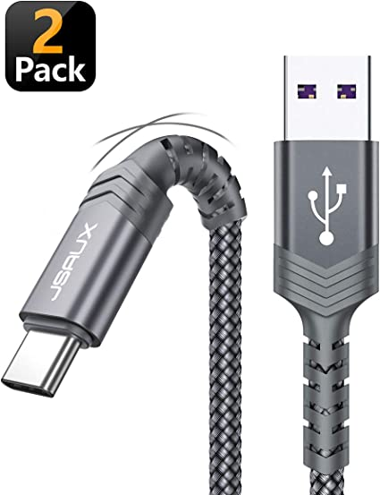 JSAUX Cable USB Tipo C, (1M+2M,2-Pack) Cable USB A a USB-C ...