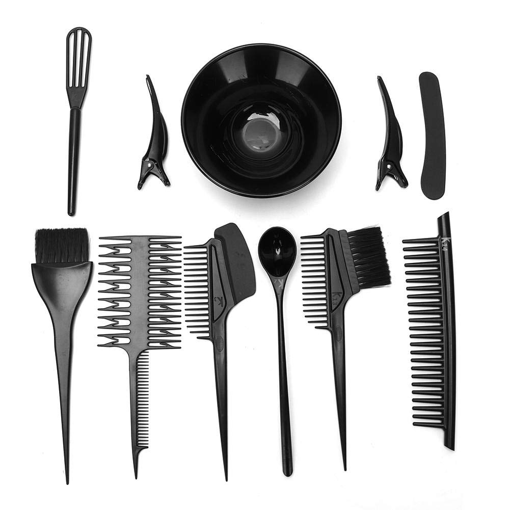Hair Dyeing Tool,10pcs / Set Hair Dyeing Tool Hair Coloring Comb Brush Kit for Hairdressing Salon by Antilog