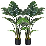 """Fopamtri Artificial Monstera Deliciosa Plant 43"""" Fake Tropical Palm Tree, Perfect Faux Swiss Cheese Plant for Home Garden Off"""