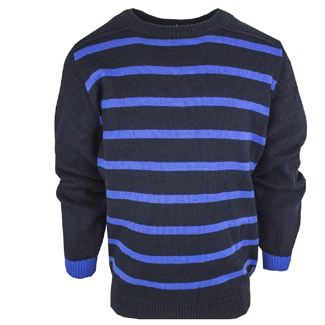 Boys Navy Blue Striped Jumper