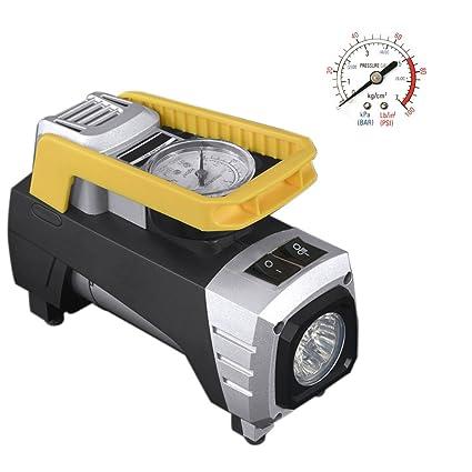 Compresor De Aire, WCYTIRES Inflador De Neumático Digital Portátil De 12V Con Instrumento De Cierre