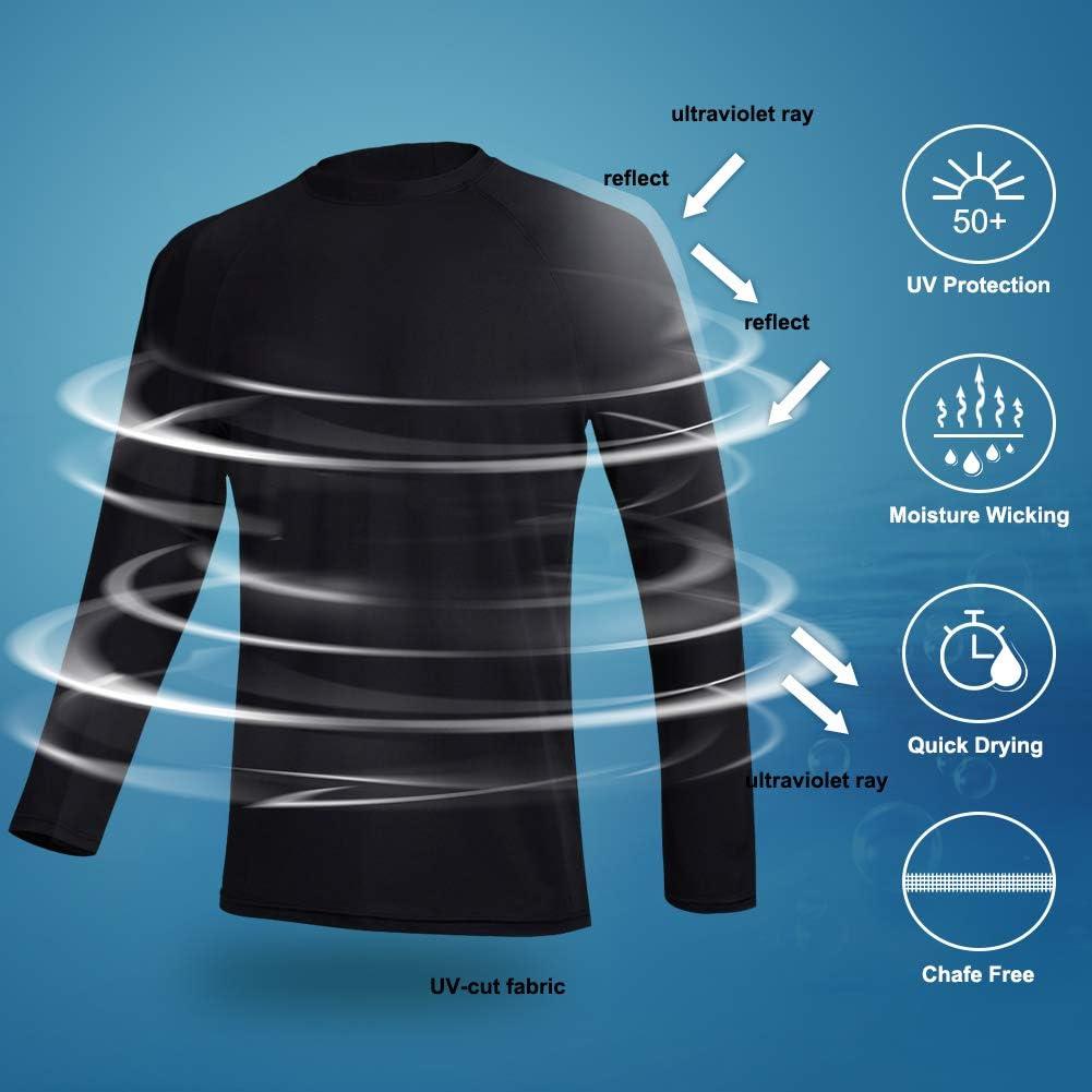 Outdoor Running UV Sun Protection Outdoor Long Sleeve Performance T-Shirt for Fishing Hiking DUOFIER Men UPF 50