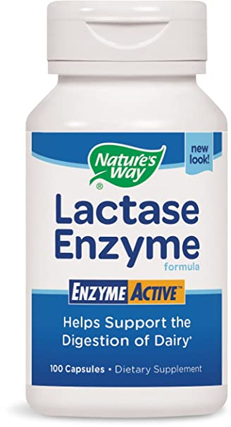 Natures Way Lactase Formula, Enzyme Active, 100 Capsules