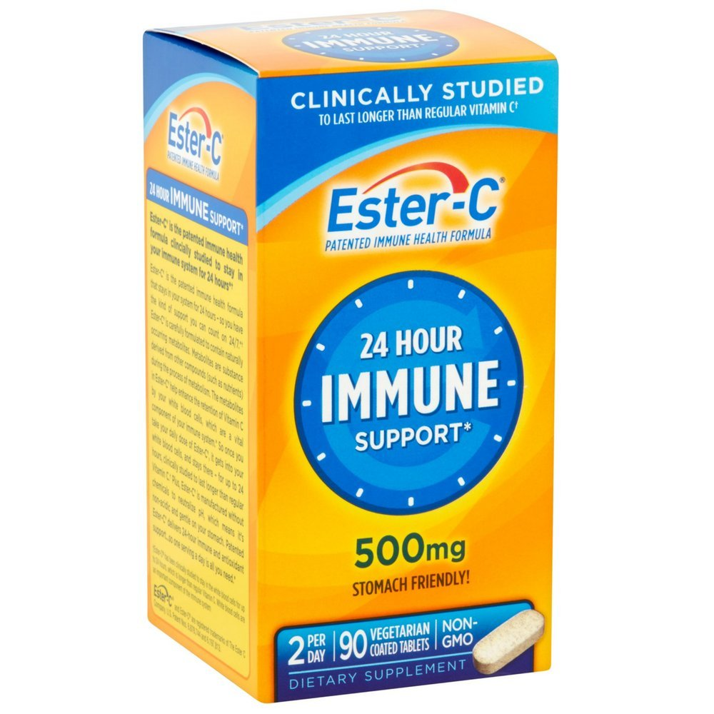 Ester-C 500 mg Coated Tablets 90 Tablets (Pack of 6)