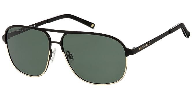 Kristian Olsen Gafas de Sol Aviador lentes polarizados. Handmade alta calidad óptica. Modelo Black Bird Green: Amazon.es: Ropa y accesorios