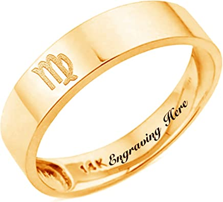 Personalized 14k Gold Any Name Rings 14k Real Gold