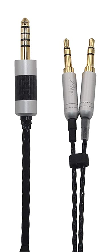 T5 Headphone 1.5M 2.5mm Trrs Balanced Male to Dual 3.5mm Connector cable 4.9ft KK Cable GX-7 Compatible Upgrade Audio Cable Replacement for Earphone Cable Beyerdynamic T1 II GX-7