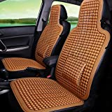 Haoun 2 PCS Car Seat Cover, Summer Car Seat Protector Breathable Car Seat Pad For Most Cars/Trucks (Brown)