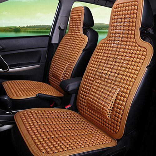 Haoun 2 PCS Car Seat Cover, Summer Car Seat Protector Breathable Car Seat Pad For Most Cars/Trucks (Brown) by Haoun (Image #2)