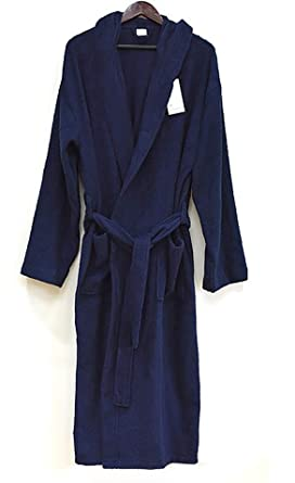 Image Unavailable. Image not available for. Color  Men s Navy Heavy 3 Pound Hooded  Terry Bathrobe 53 quot  Length 100% Cotton 7245f43c9