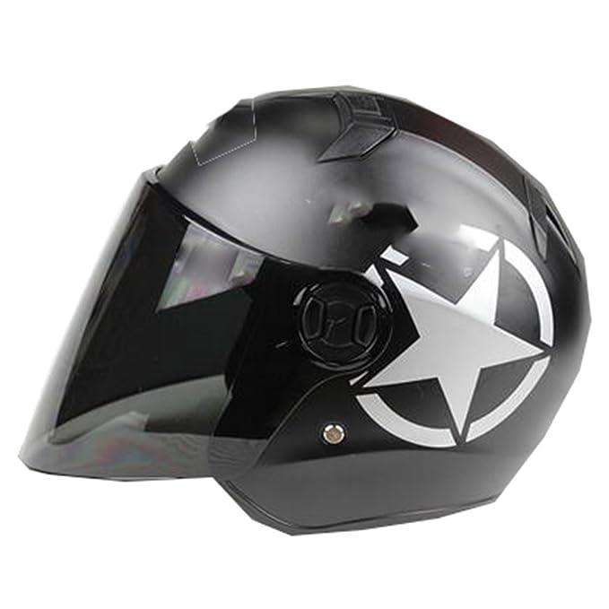 TZQ Hombre Motocicleta Half-covered Lady Electric Car Ride Casco De Casco De Seguridad: Amazon.es: Ropa y accesorios