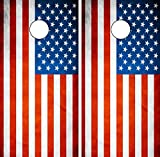 C191 American Flag CORNHOLE WRAP WRAPS LAMINATED Board Boards Decal Set Decals Vinyl Sticker Stickers Bean Bag Game Vinyl Graphic Tint Image Review