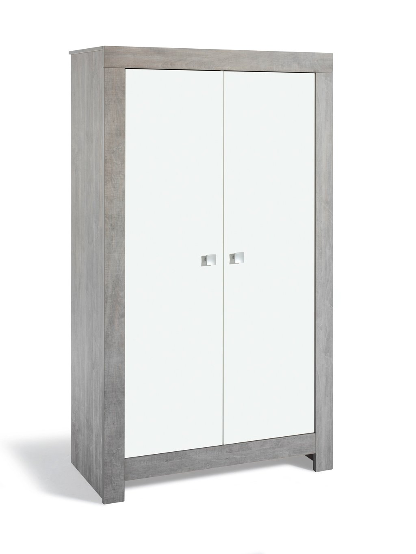 Schardt 06 790 22 00 2- türiger Kleiderschrank Nordic driftwood/weiß
