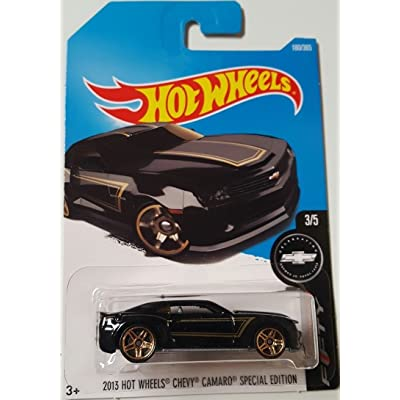 Hot Wheels 2020 Camaro Fifty 2013 Chevy Camaro Special Edition 180/365, Black: Toys & Games