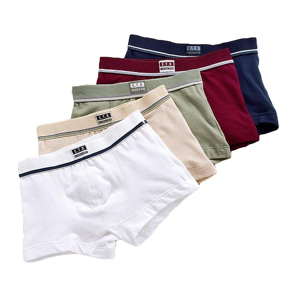 Pantaloncini Boxer da bambino-Cotone elasticizzato Short 5 pezzi Boxer intimo Slip Toddler Trunk 1-12 anni