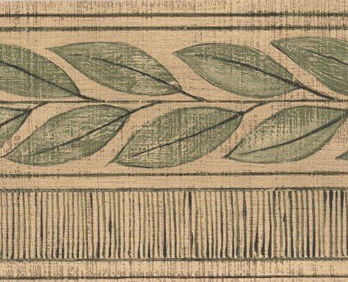 """緑の葉卵シェル白いヴィンテージ壁紙ボーダーレトロなデザインロール15 'x 4 """""""