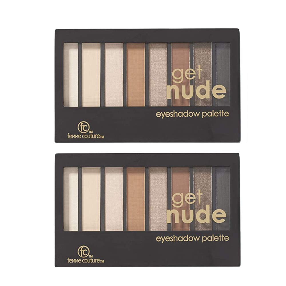 Multi Pack of 2 items, Includes 2 Femme Couture Get Nude Eyeshadow Palettes