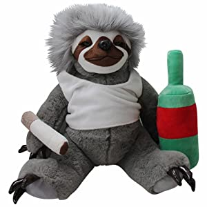 Moochie The Slacker Sloth - 32cm Lazy Sloth Plush - Stuffed Animals for Adults Funny Gag Gifts Weird Gifts for Men Women Gifts for Slackers Sloth Gifts Stuffed Sloth Toy Life in The Slow Lane