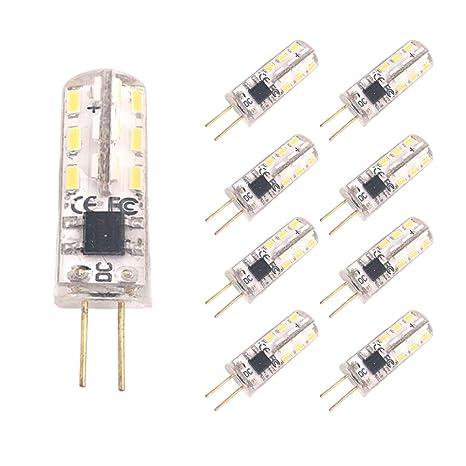vinp 10 Bombilla LED G4 2 W 12 V DC 24 x 3014 SMD G4 patillas