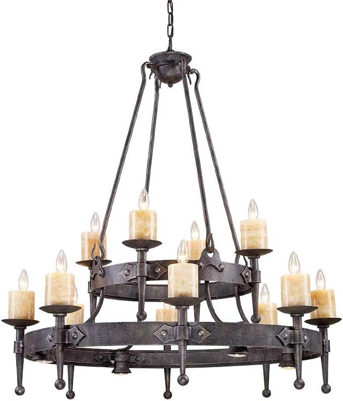 Amazon Com Artistic Lightingcambridge 8 4 4 Light Chandelier In Moonlit Rust Furniture Decor