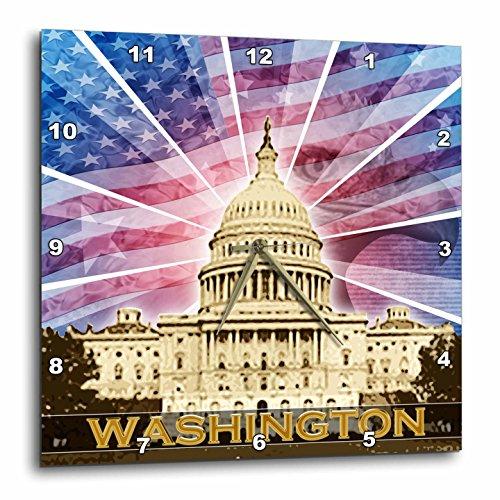 Washington Dc Patriotic American Flag with Bald Eagle