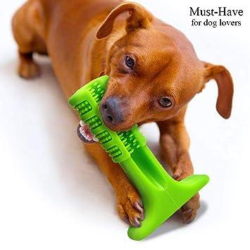 NTMY Perro Masticar Juguetes Cepillo de Dientes Palo Goma Resistente a mordiscos Barra, Ideal para