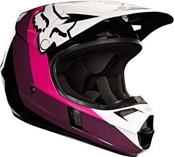 19546-285-S - Fox Racing Youth V1 Halyn Motocross Helmet S Black Pink 667b0aed84b