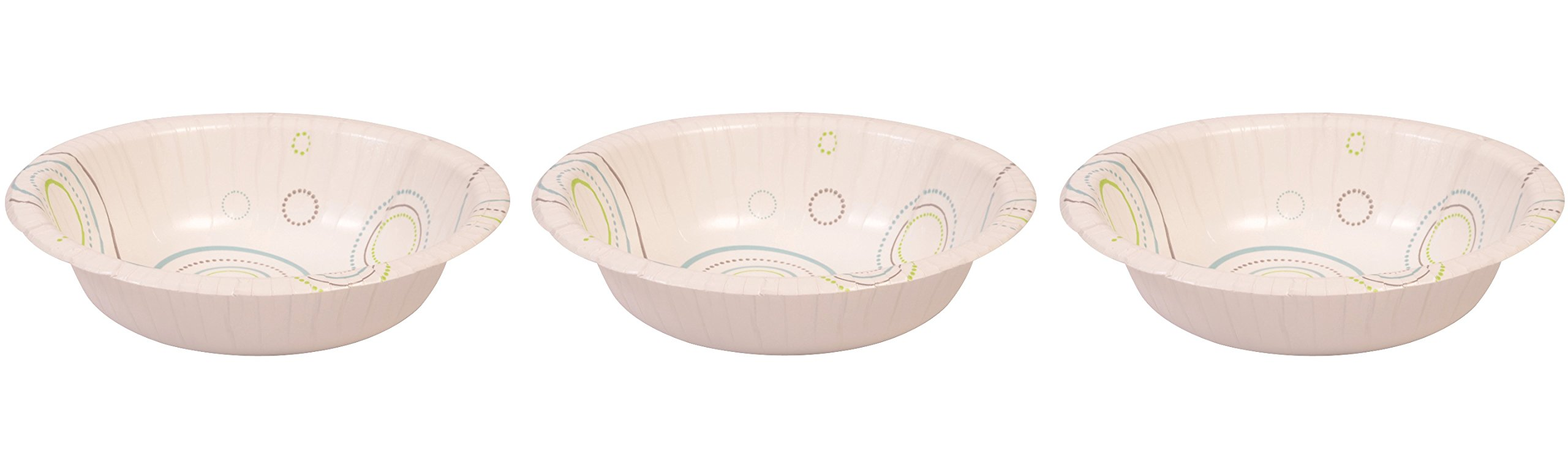Perfect Stix Everyday Bowl 12- 125 12 oz. Coated Paper Bowls or Everyday Use, 3'' Height, 7'' width, 7'' Length (Pack of 125)