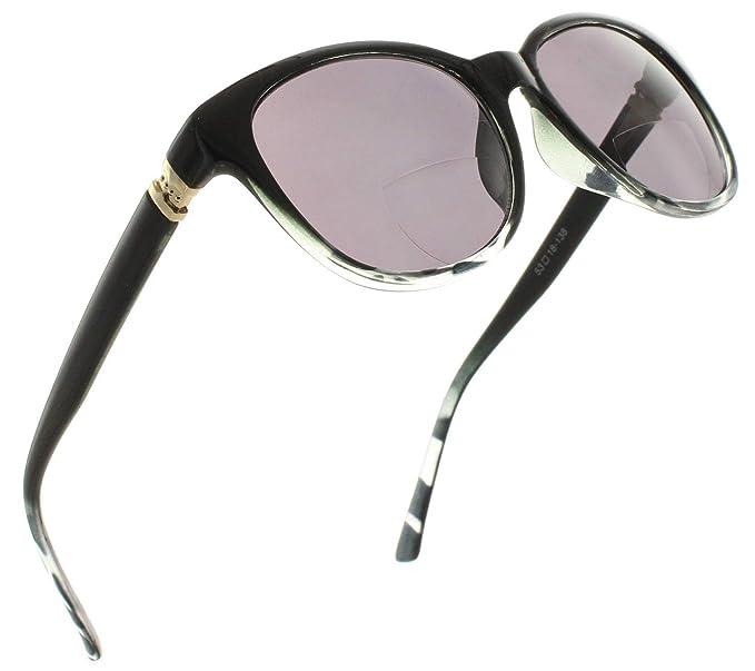 451bc194fa71 Womens Bifocal Sun Reader Sunglasses Fashion Trendy Readers Reading Glasses   Black Leopard Smoke