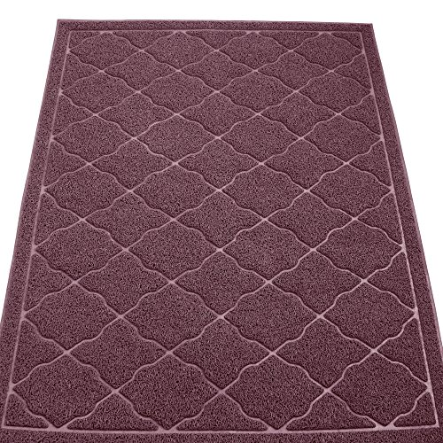 KW Pets Non-Toxic Cat Litter Mat, Jumbo Size (47x35-Inch), Brown