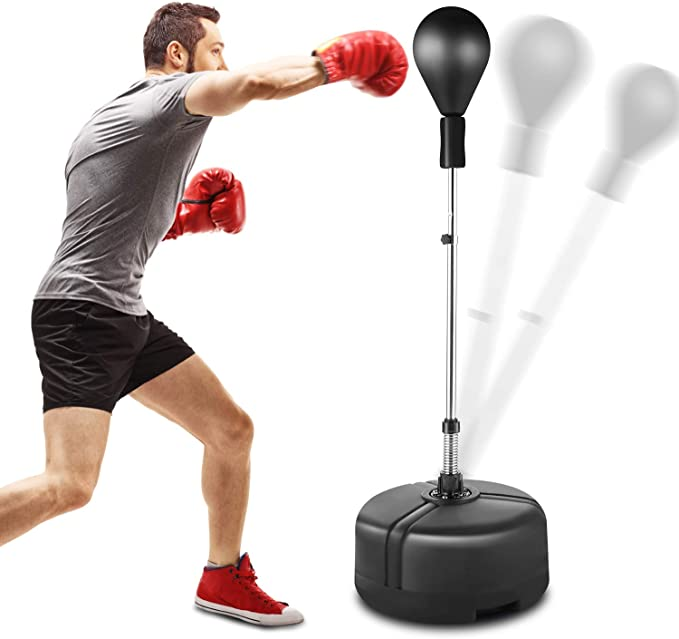 Adult Standing Punch Bag Ball Boxing Speed Punching Exercise Speed Training Ball
