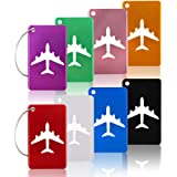 8Pcs KT-APSR Luggage Tags Set With Name ID Card, Upgrade Durable Travel Bags Tags, Metal Suitcase Tags With Strings