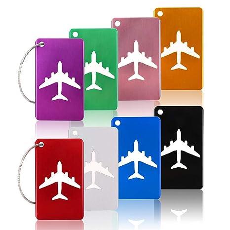 Amazon.com: Juego de 8 etiquetas de equipaje KT-APSR con ...