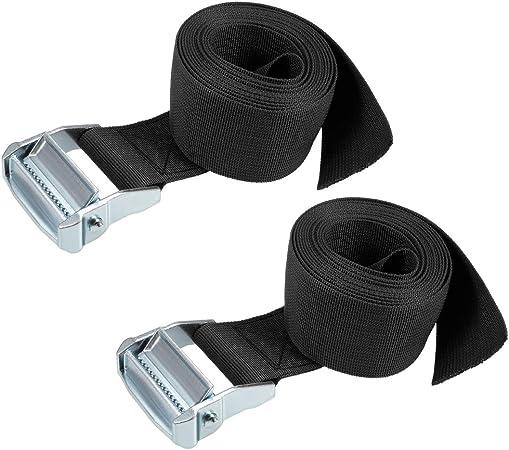 Black 5M x 5cm Tie Down Strap Load tie Down Straps with cam Lock Buckle 500 kg workload