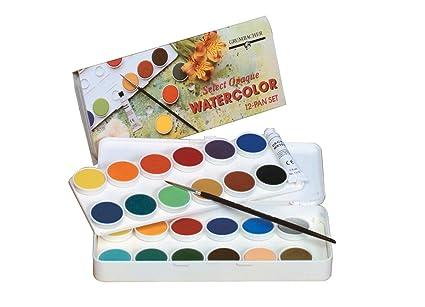 amazon com grumbacher transparent watercolor set 24 colors brush