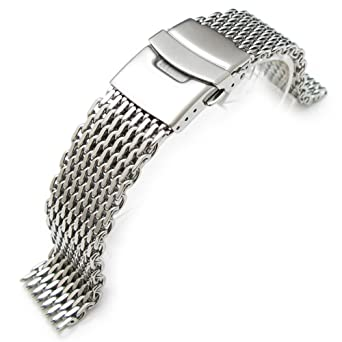 befcd051a01d 20mm Ploprof 316 Reform Stainless Steel  quot SHARK quot  Mesh Milanese  Watch Band ...