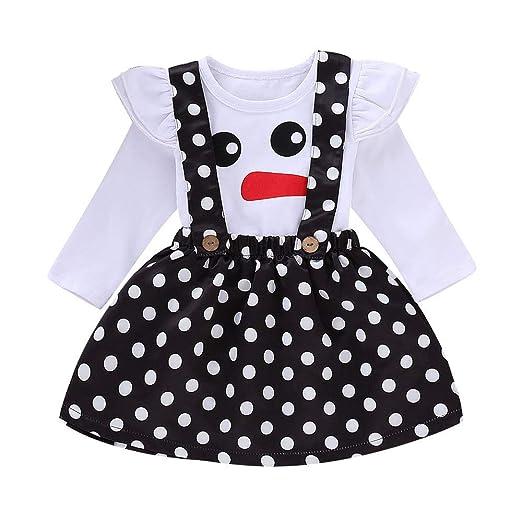 0d6d010528070 Amazon.com: Sikye Baby Girls Outfits Christmas Ruffle Long Sleeve ...