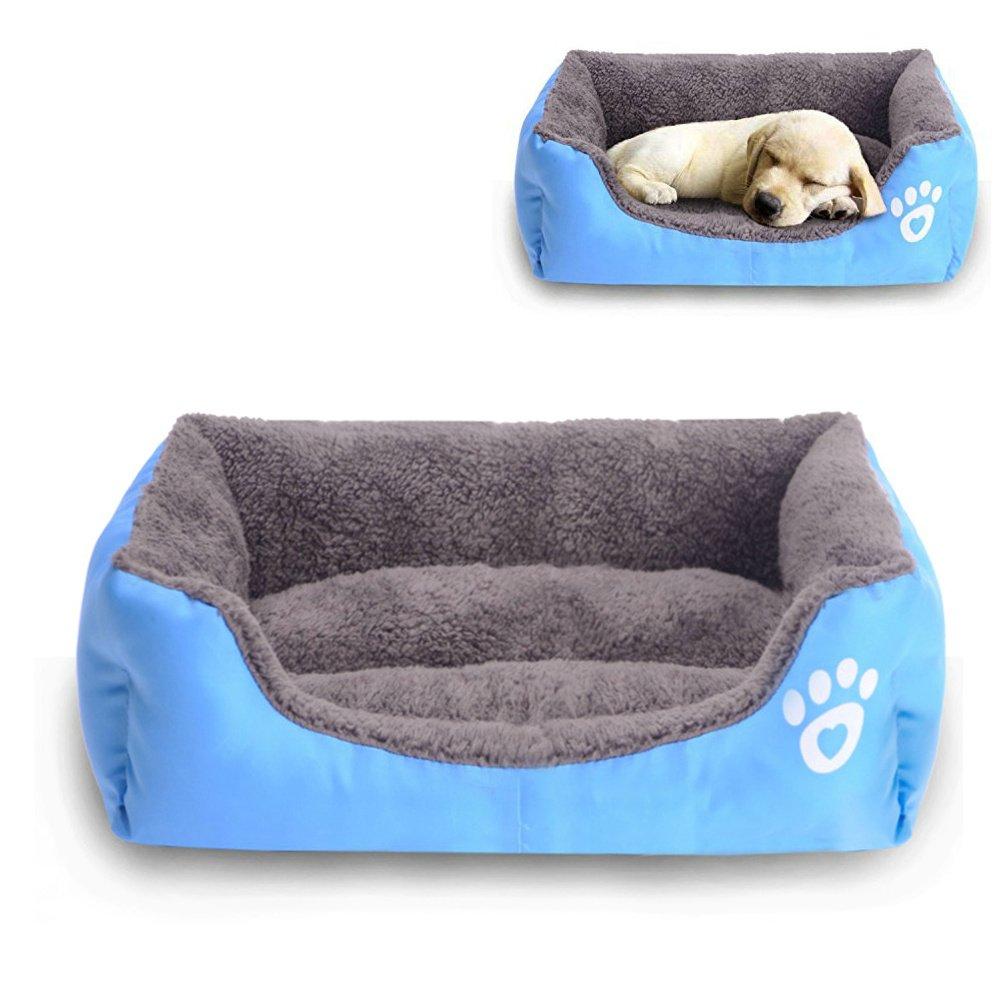 Pet Dog Bed Dog Soft Washable Rectangular Pet Self Warming Cat Pet Warm Basket