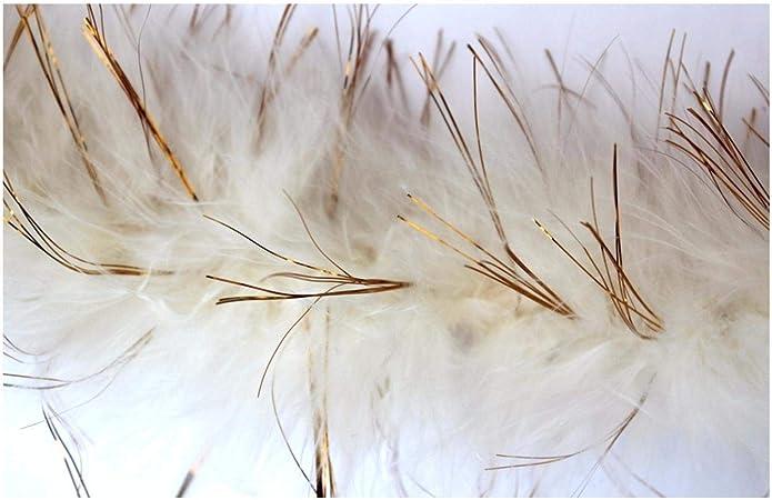Choose Colour Black//Gold Tinsel - 1 Metre 1 Metre Marabou Swansdown Feather Trim with Tinsel Soft Swandown